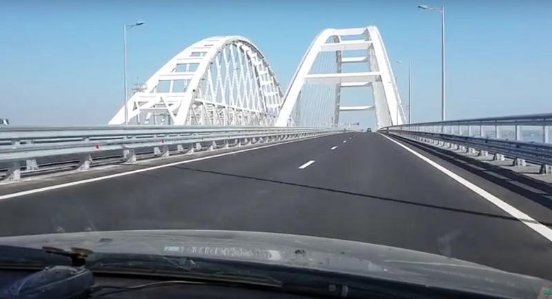 Erster Verkehrsunfall auf der neuen Krim-Brücke