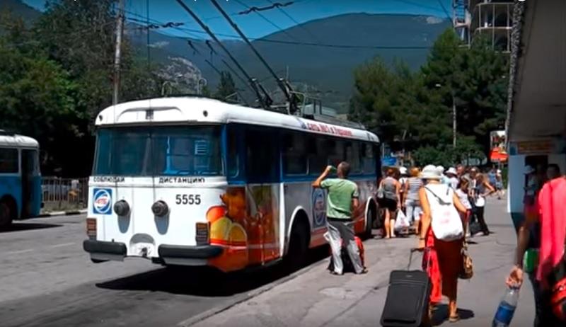 Die Trolleybusse von Jalta